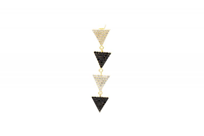 pendiente triángulo bicolor