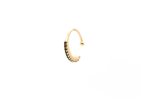 ear cuff anillo negro