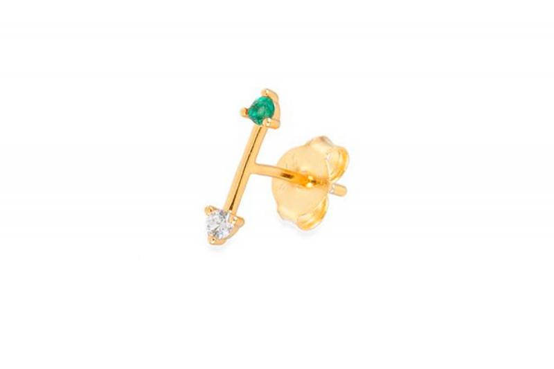 pendiente mini flecha verde