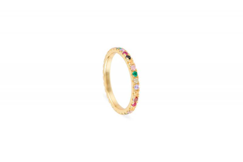 anillo multicolor