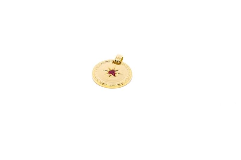 Colgante Medallón Rojo