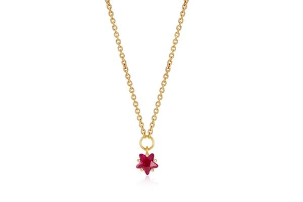 Gargantilla Mini Estrella Rosa