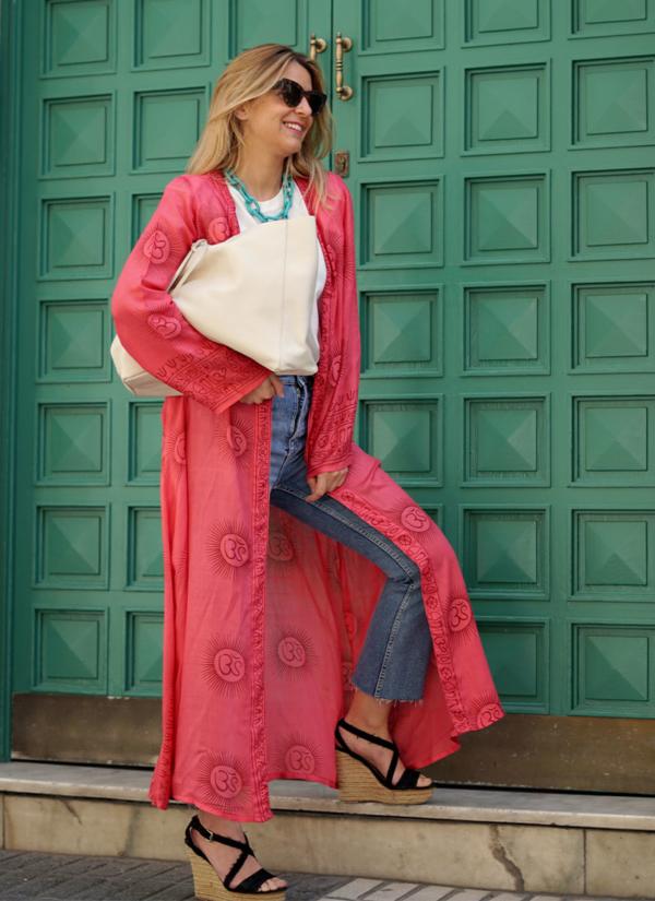 Kimono Fresa de corte largo