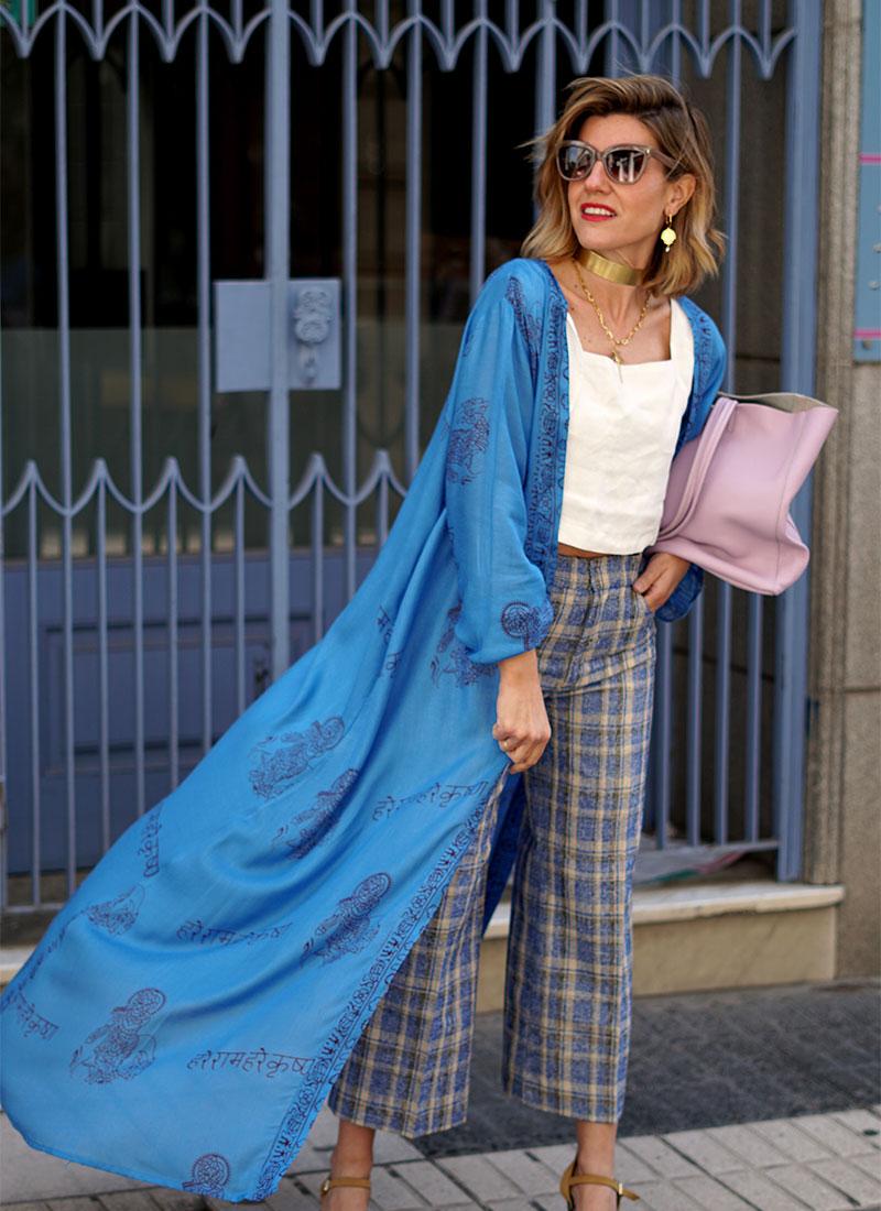 Kimono Azul máxima comodidad