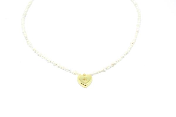Gargantilla Corazón Perlas