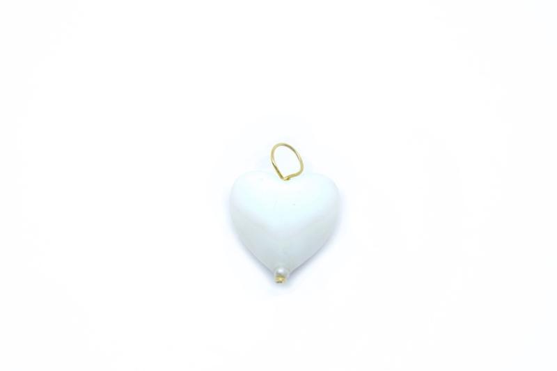 Corazón blanco en silicona