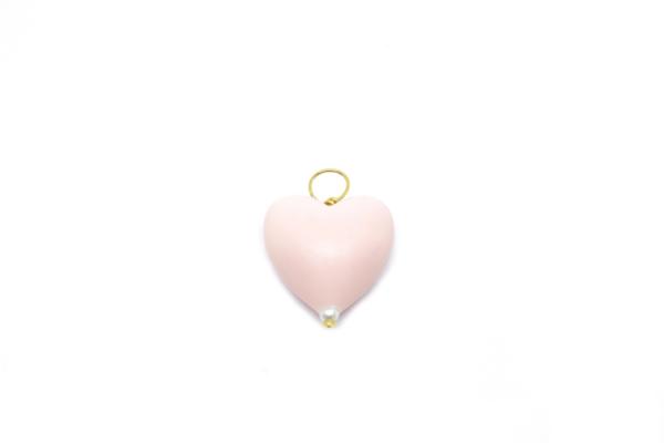 Corazon rosa elaborado en silicona