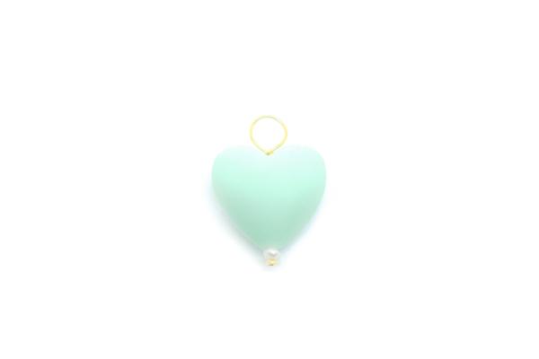 Corazon verde agua color encantador