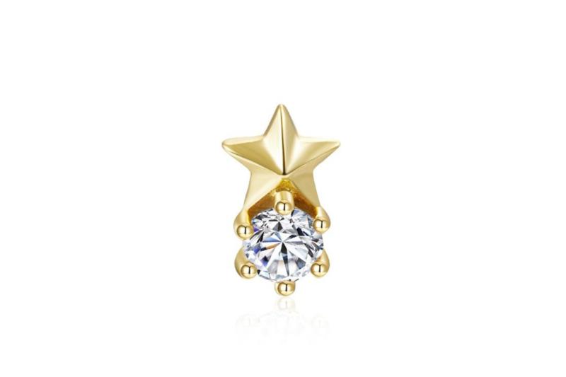 Pendiente Mini Estrella Blanco