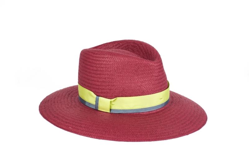 Sombrero Buganvilla de fibra vegetal