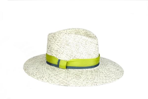 Sombrero Gris Jaspeado en fibra vegetal