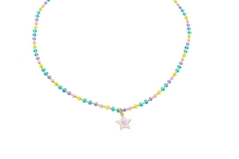 Gargantilla Colores Estrella con colores vivaces