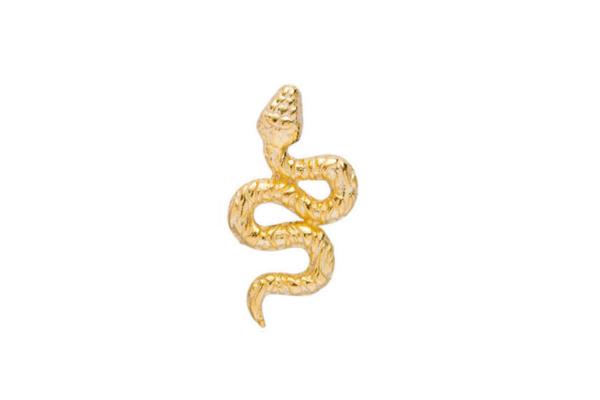 Pendiente Serpiente plata bañada en oro
